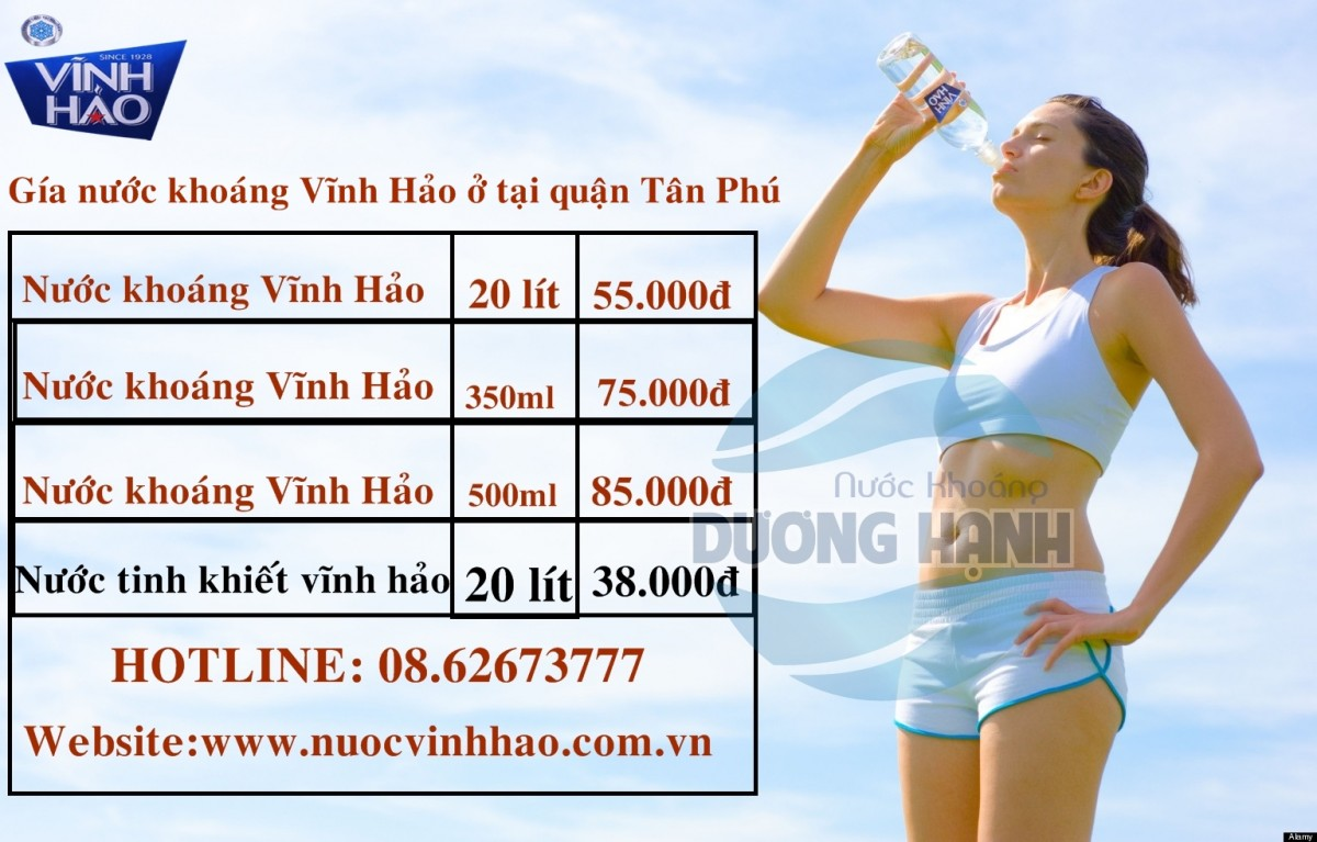 Giao nước khoáng Vĩnh Hảo tại quận Tân Phú
